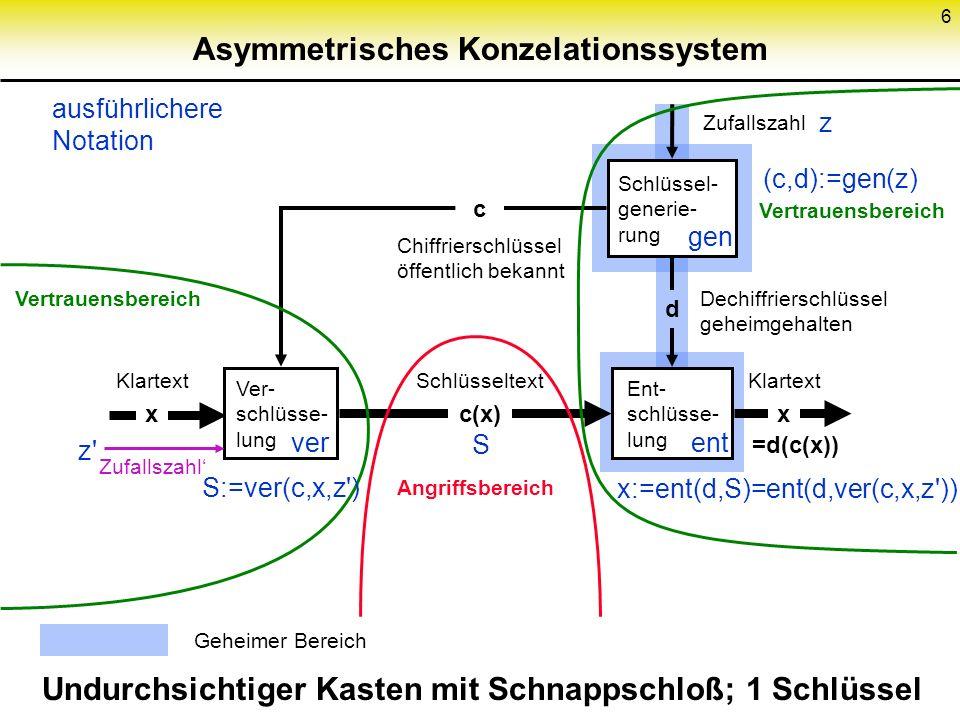 Asymmetrisches Konzelationssystem