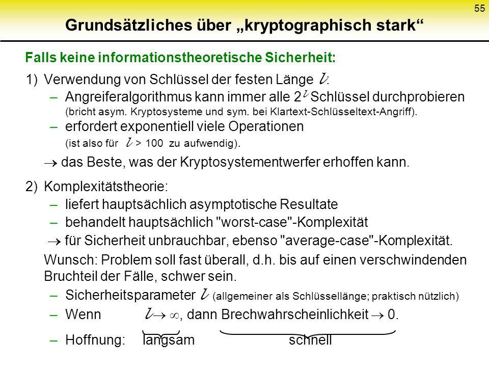 """Grundsätzliches über """"kryptographisch stark"""