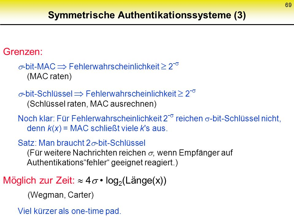 Symmetrische Authentikationssysteme (3)