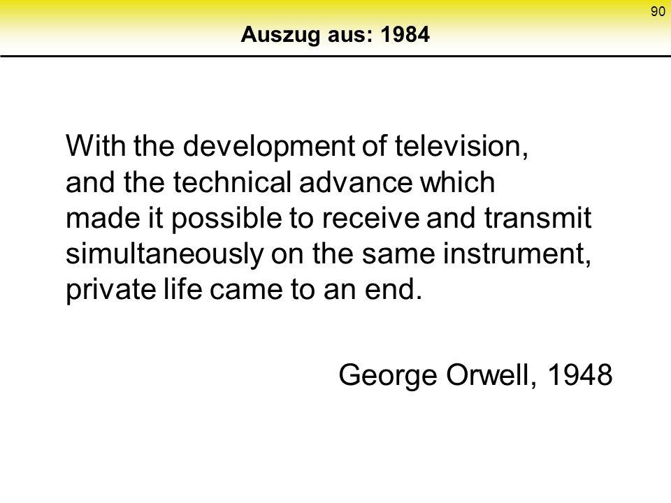 Auszug aus: 1984