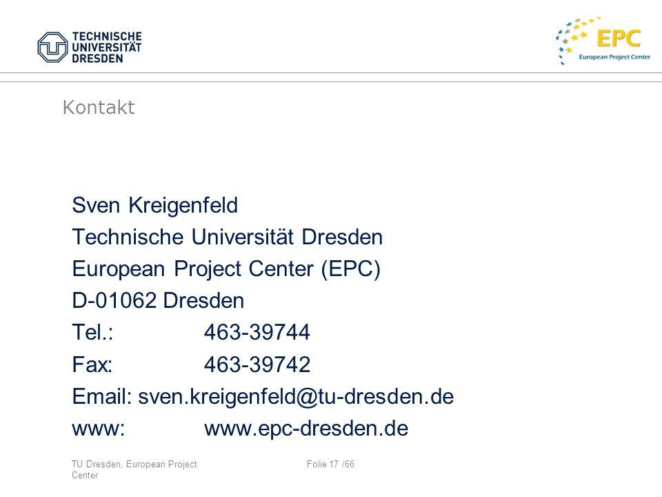 Technische Universität Dresden European Project Center (EPC)