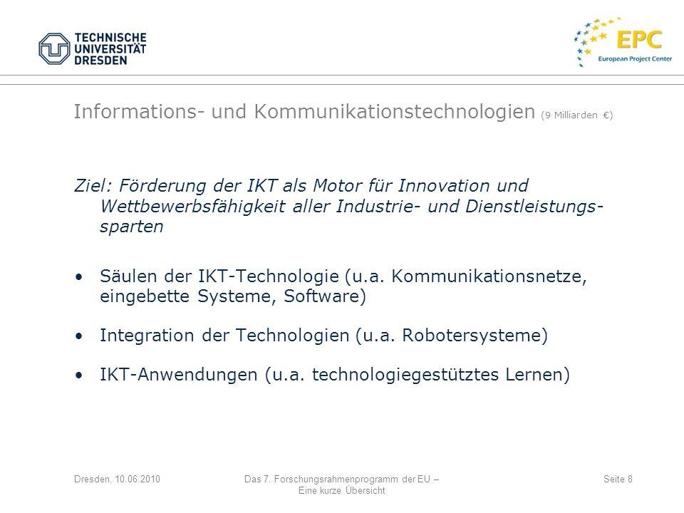 Informations- und Kommunikationstechnologien (9 Milliarden €)