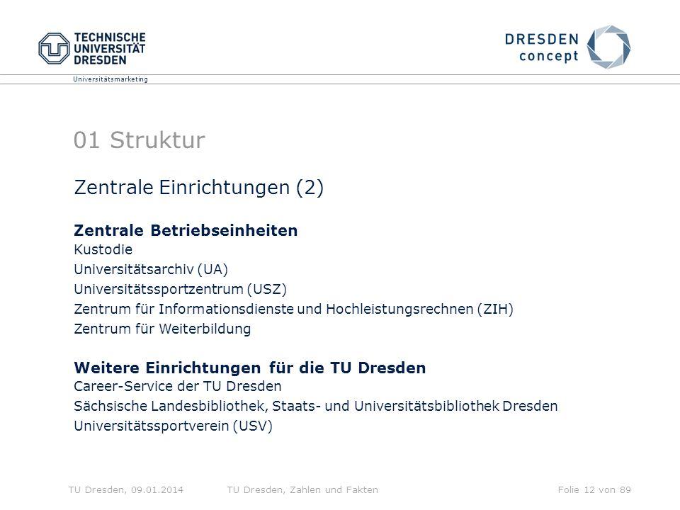 01 Struktur Zentrale Einrichtungen (2) Zentrale Betriebseinheiten