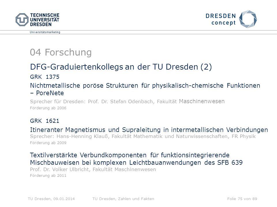 04 Forschung DFG-Graduiertenkollegs an der TU Dresden (2)