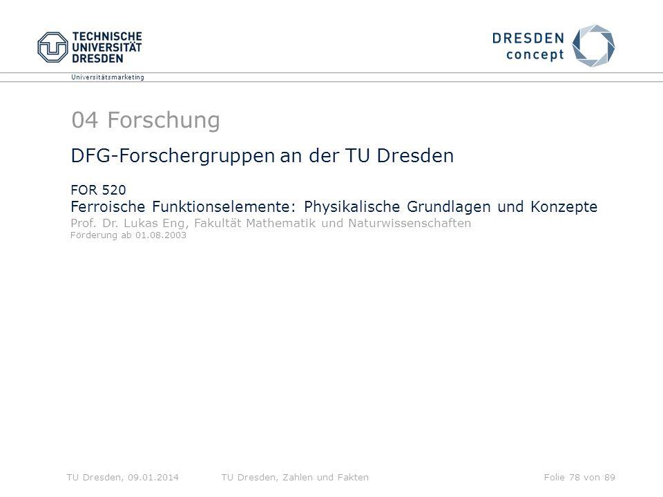 04 Forschung DFG-Forschergruppen an der TU Dresden