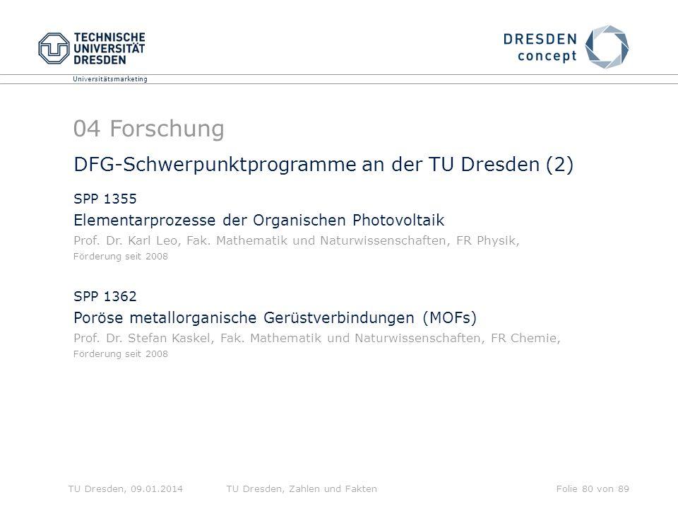 04 Forschung DFG-Schwerpunktprogramme an der TU Dresden (2)