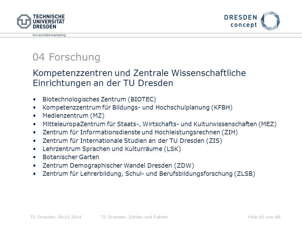 04 Forschung Kompetenzzentren und Zentrale Wissenschaftliche Einrichtungen an der TU Dresden. Biotechnologisches Zentrum (BIOTEC)