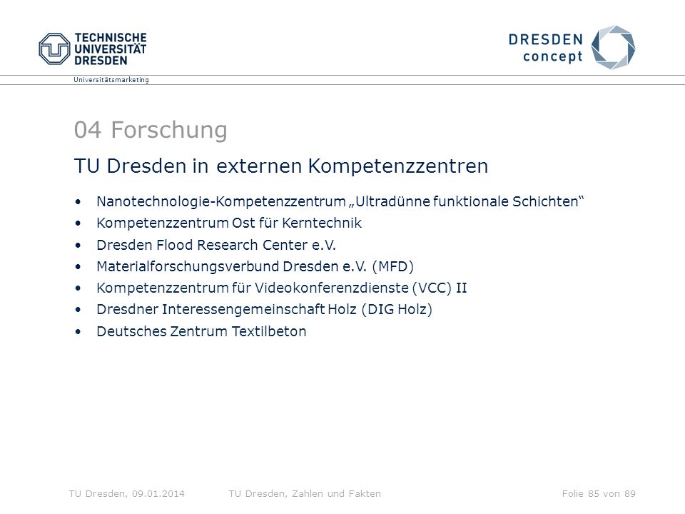 04 Forschung TU Dresden in externen Kompetenzzentren