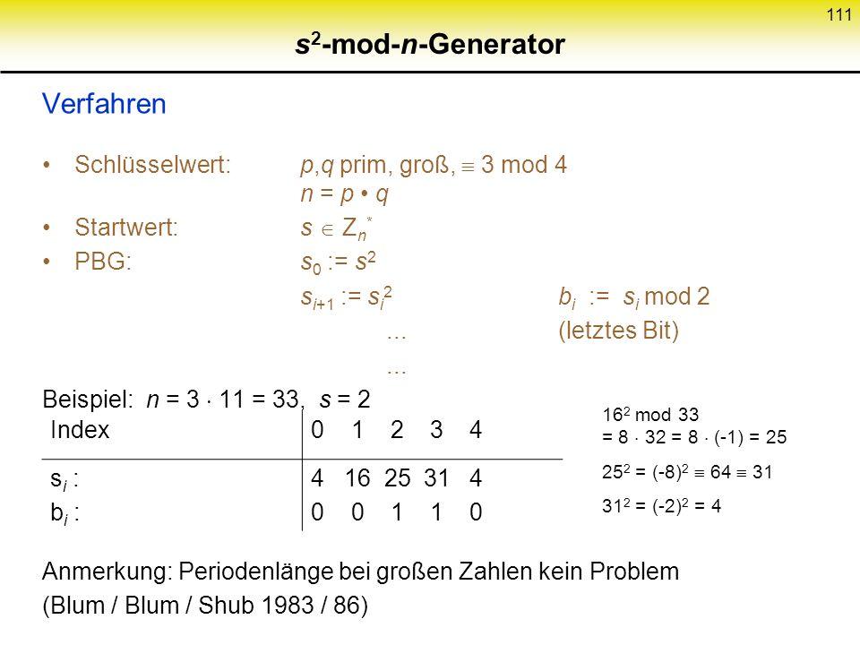 s2-mod-n-Generator Verfahren