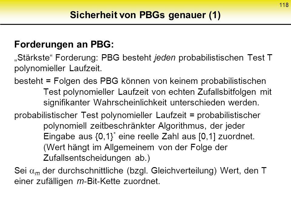 Sicherheit von PBGs genauer (1)