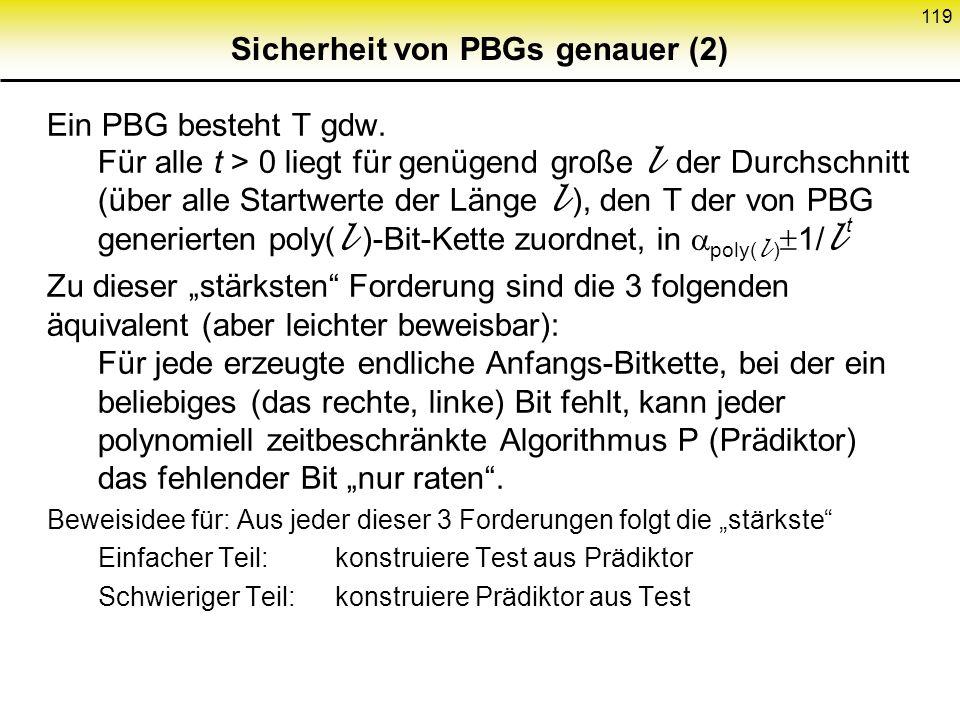 Sicherheit von PBGs genauer (2)
