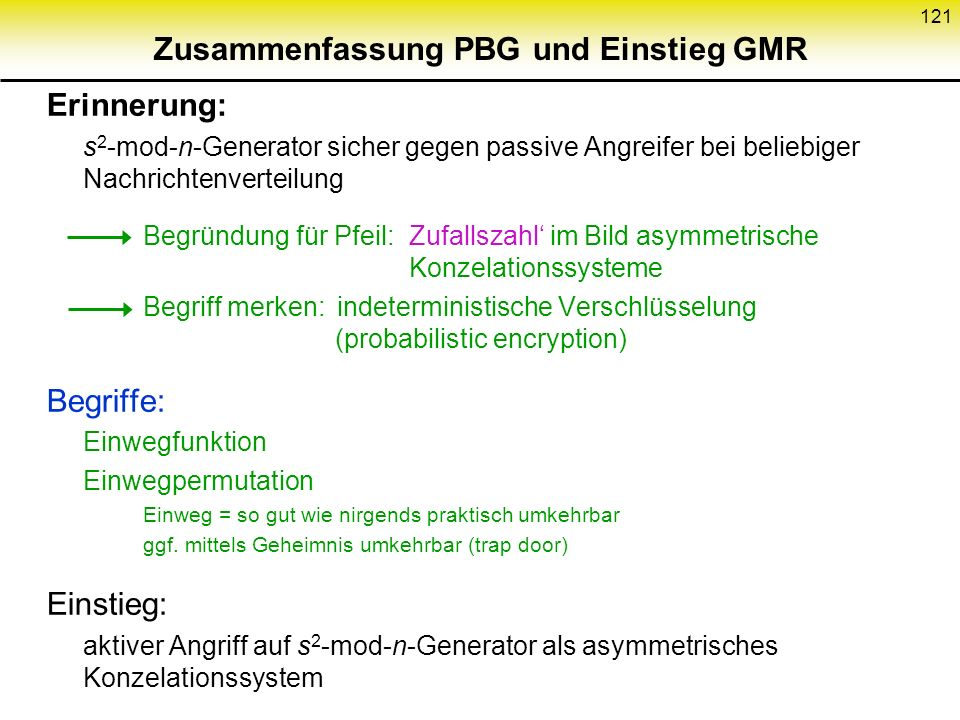 Zusammenfassung PBG und Einstieg GMR