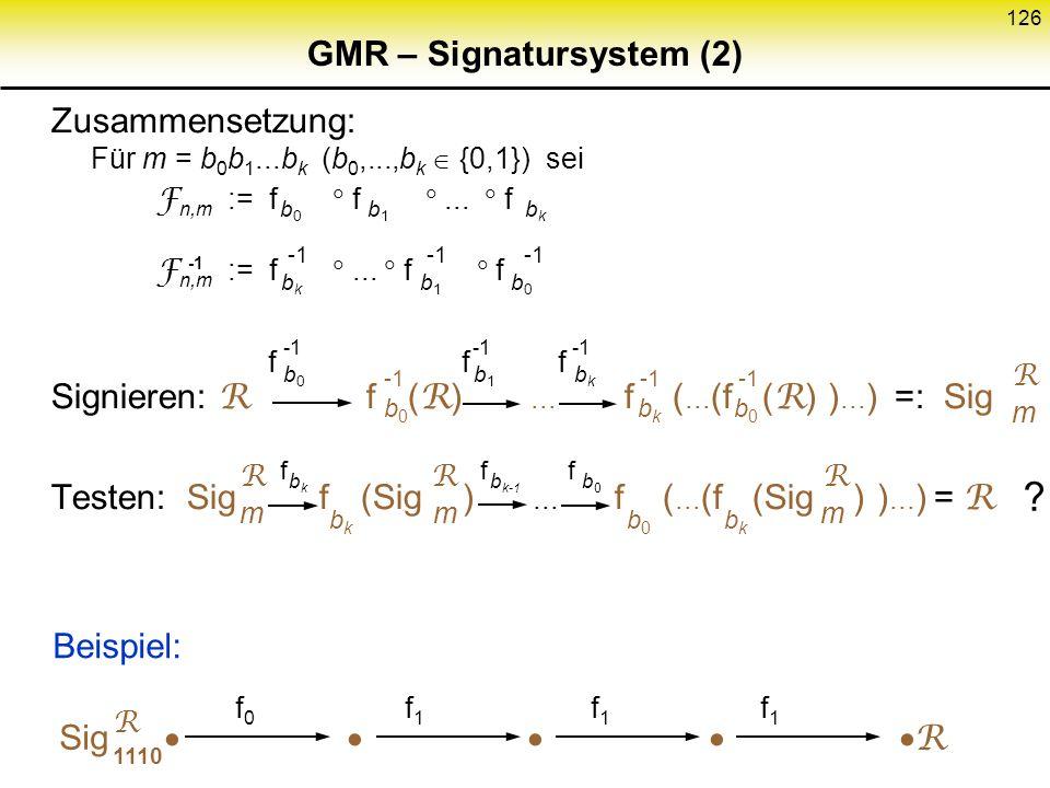 GMR – Signatursystem (2)