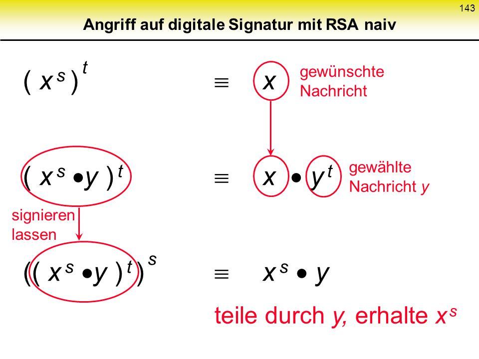 Angriff auf digitale Signatur mit RSA naiv