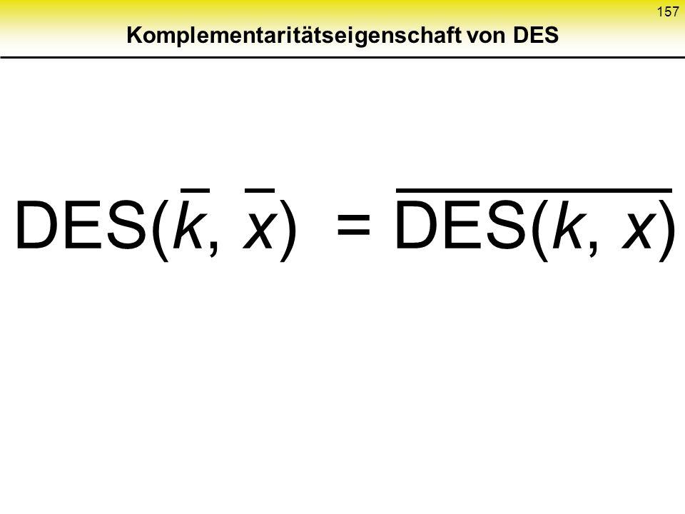 Komplementaritätseigenschaft von DES