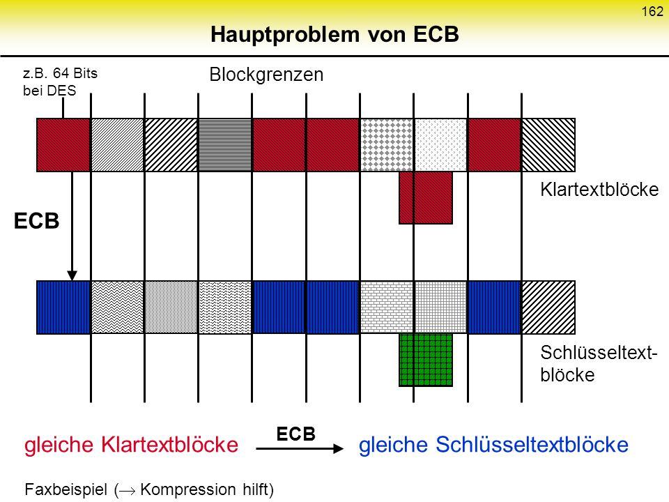 Hauptproblem von ECB ECB