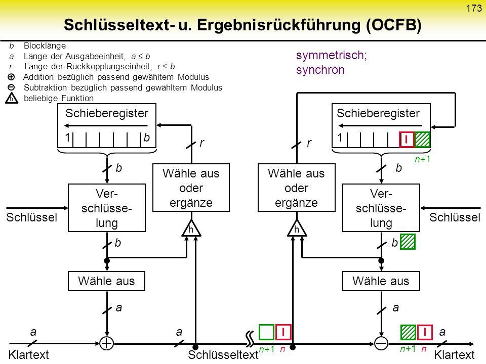 Schlüsseltext- u. Ergebnisrückführung (OCFB)