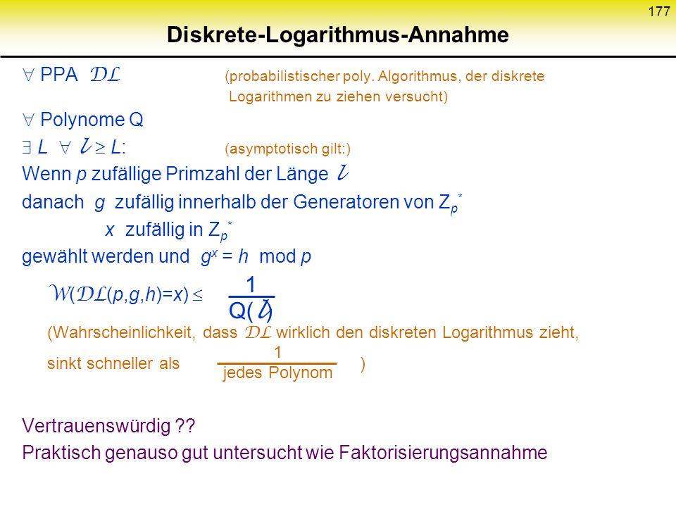 Diskrete-Logarithmus-Annahme