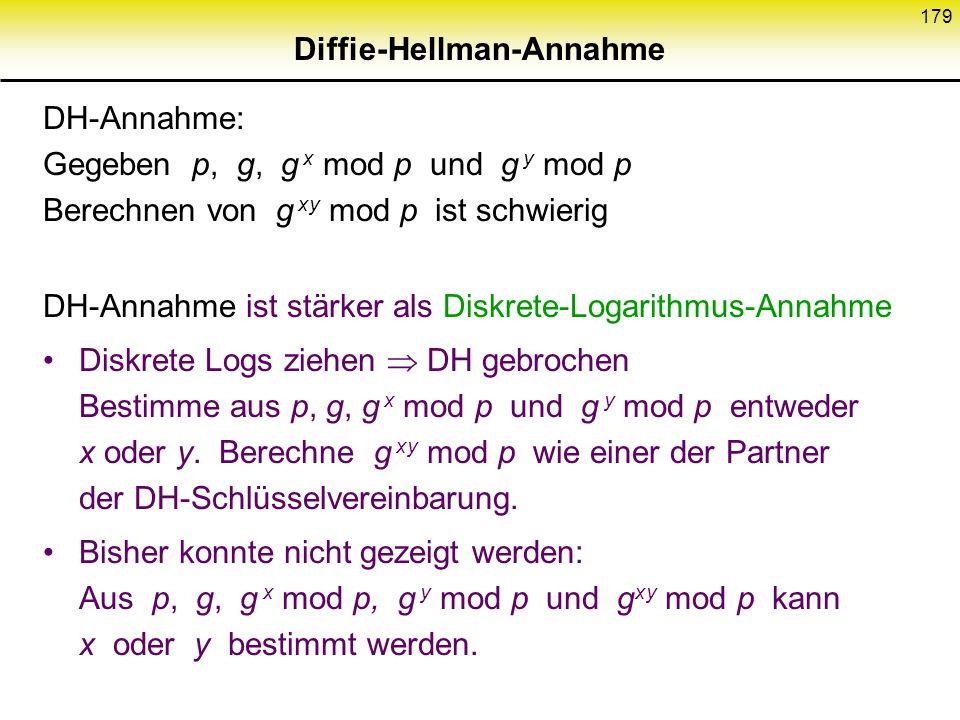 Diffie-Hellman-Annahme