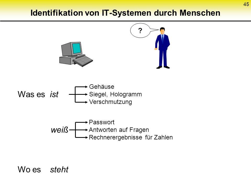 Identifikation von IT-Systemen durch Menschen