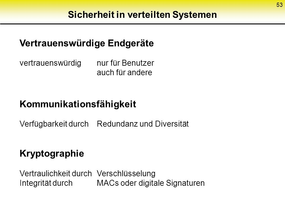 Sicherheit in verteilten Systemen