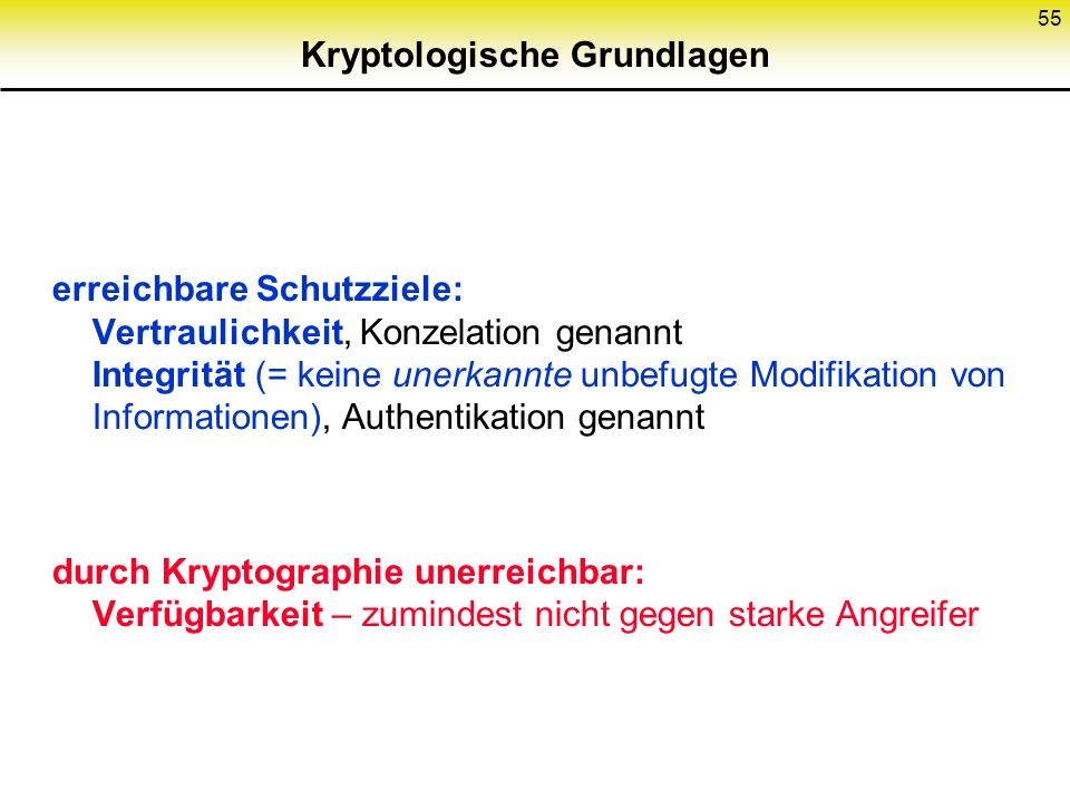 Kryptologische Grundlagen