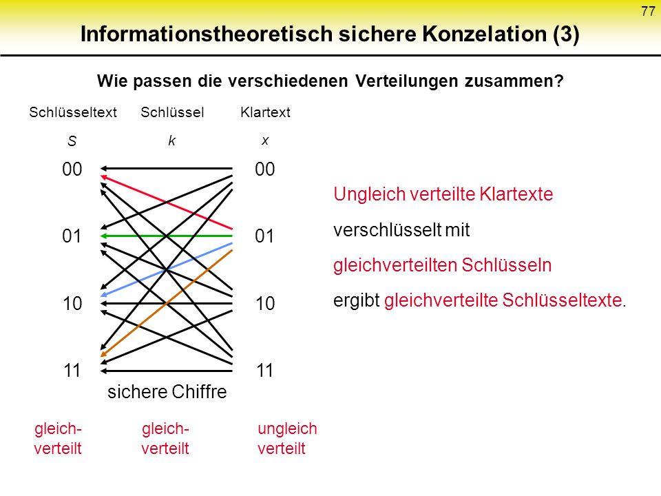 Informationstheoretisch sichere Konzelation (3)