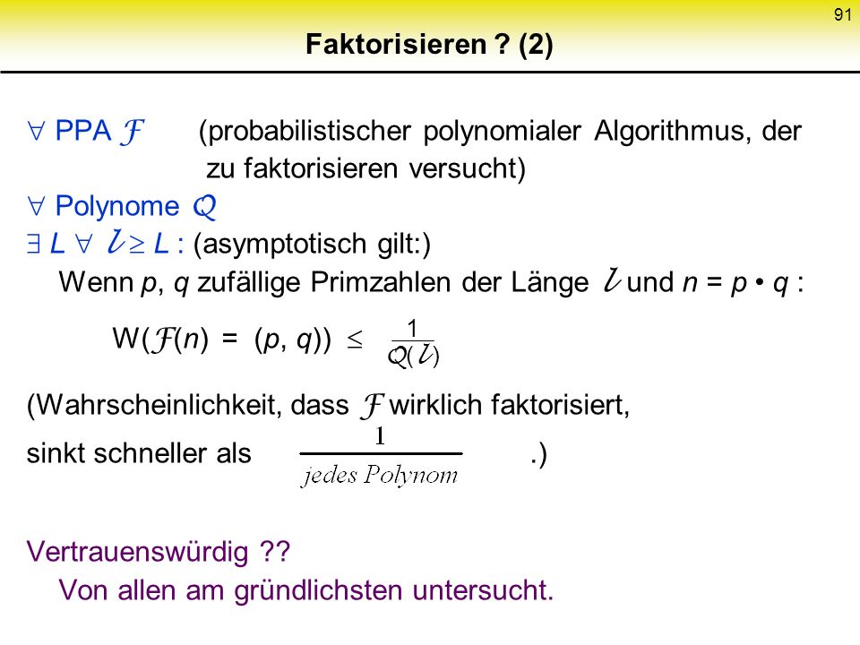  PPA F (probabilistischer polynomialer Algorithmus, der