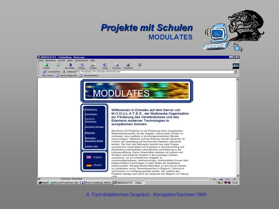 Projekte mit Schulen MODULATES