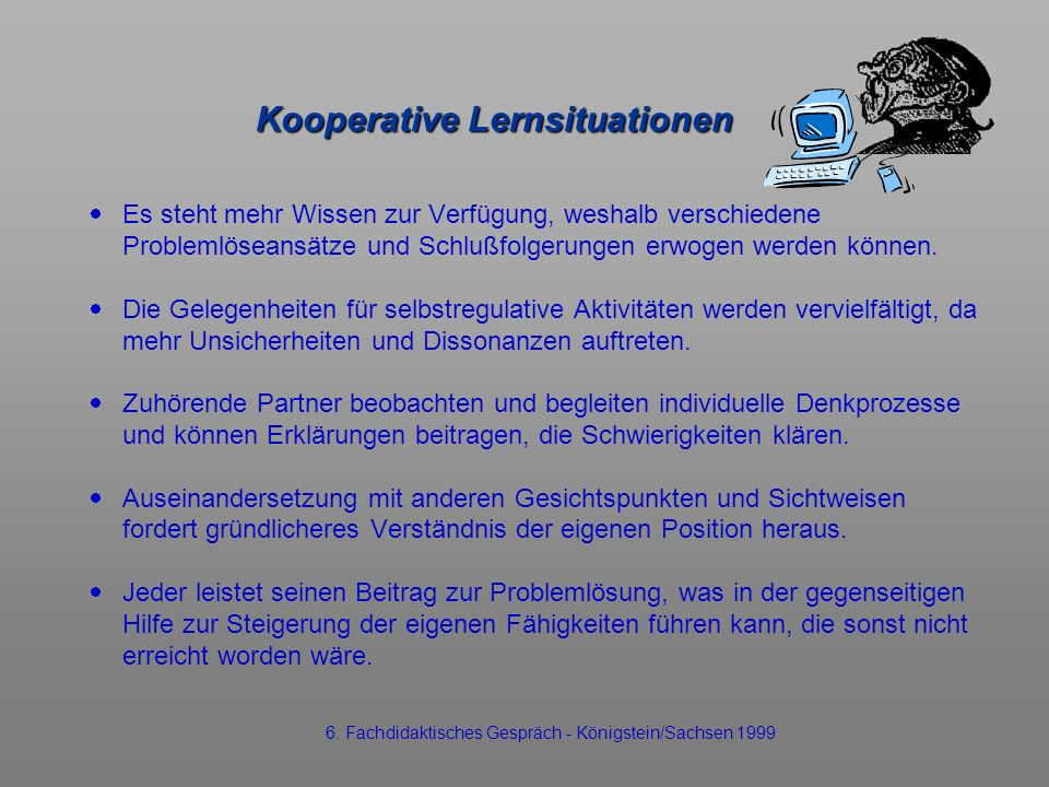 Kooperative Lernsituationen