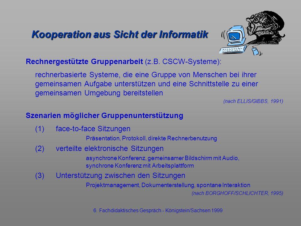 Kooperation aus Sicht der Informatik