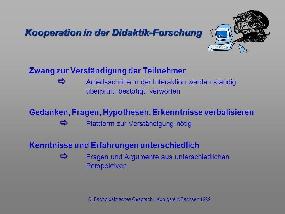 Kooperation in der Didaktik-Forschung