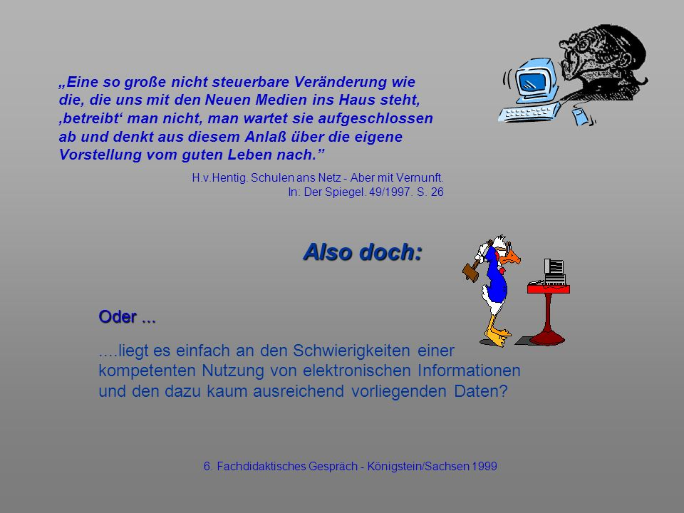 6. Fachdidaktisches Gespräch - Königstein/Sachsen 1999