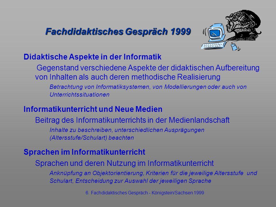 Fachdidaktisches Gespräch 1999