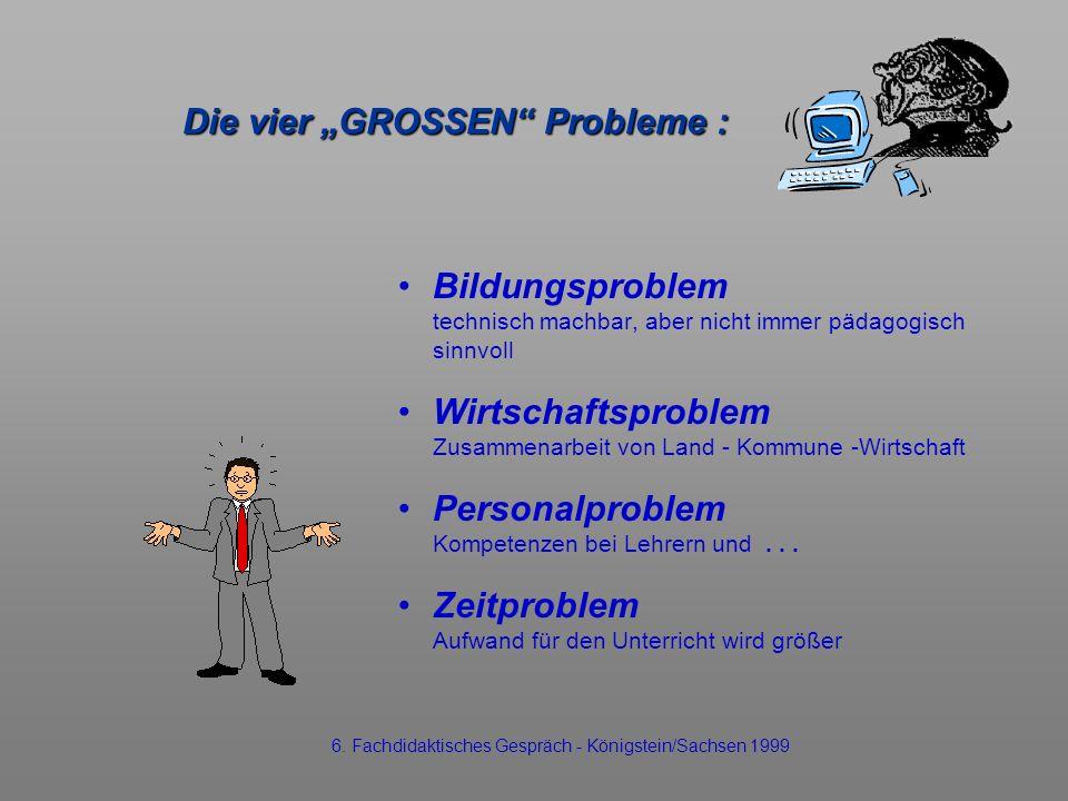 """Die vier """"GROSSEN Probleme :"""