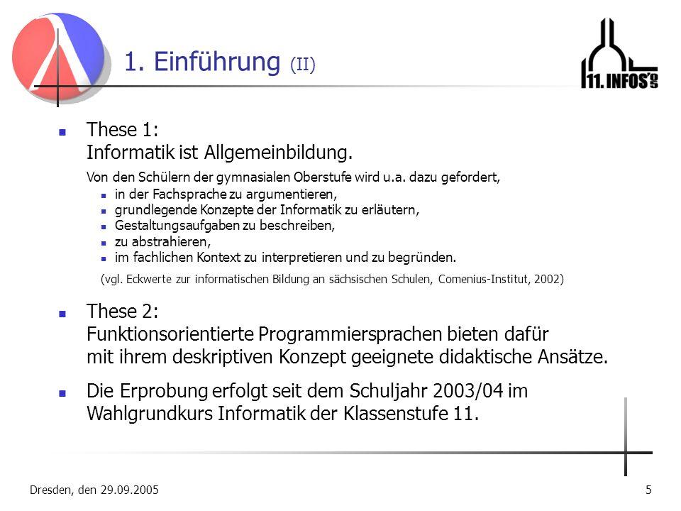 1. Einführung (II) These 1: Informatik ist Allgemeinbildung.