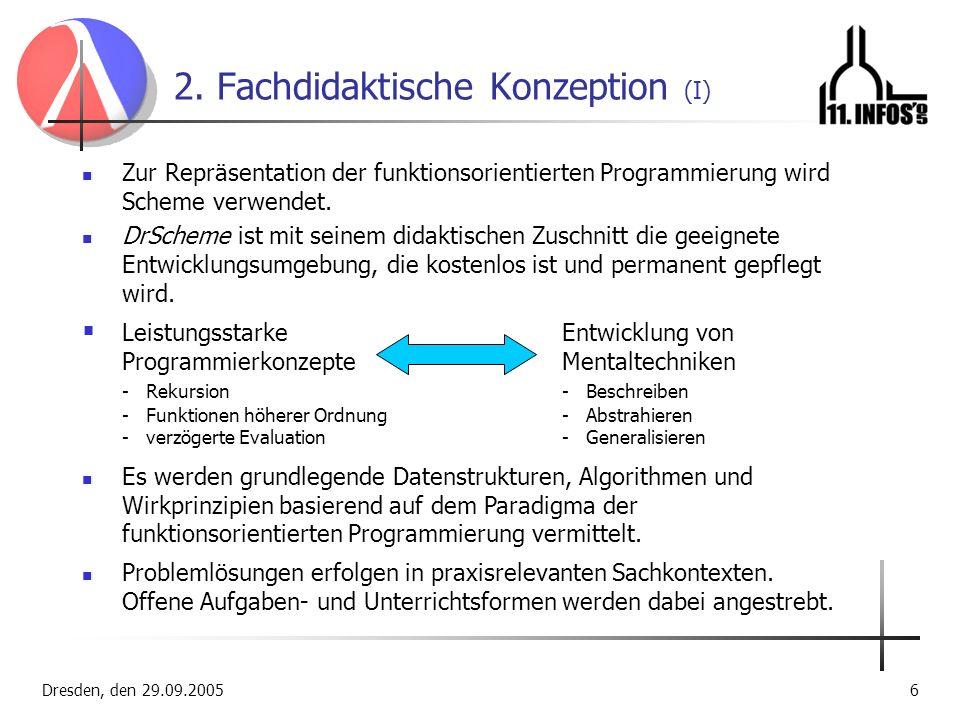 2. Fachdidaktische Konzeption (I)