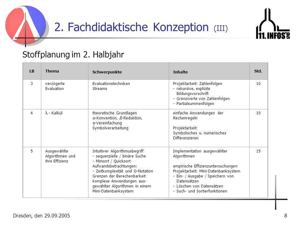 2. Fachdidaktische Konzeption (III)