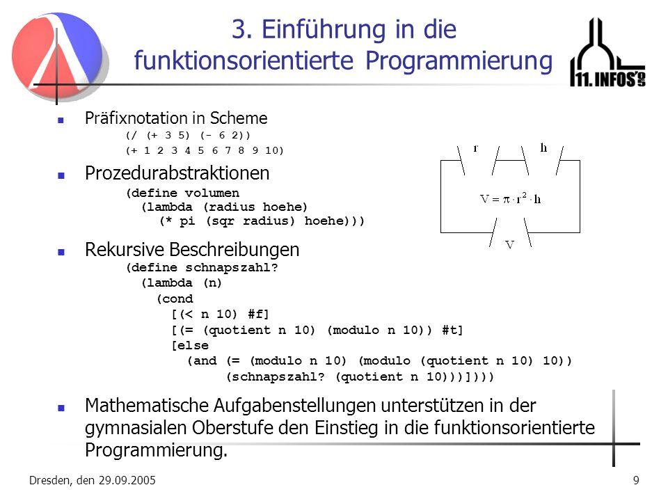 3. Einführung in die funktionsorientierte Programmierung