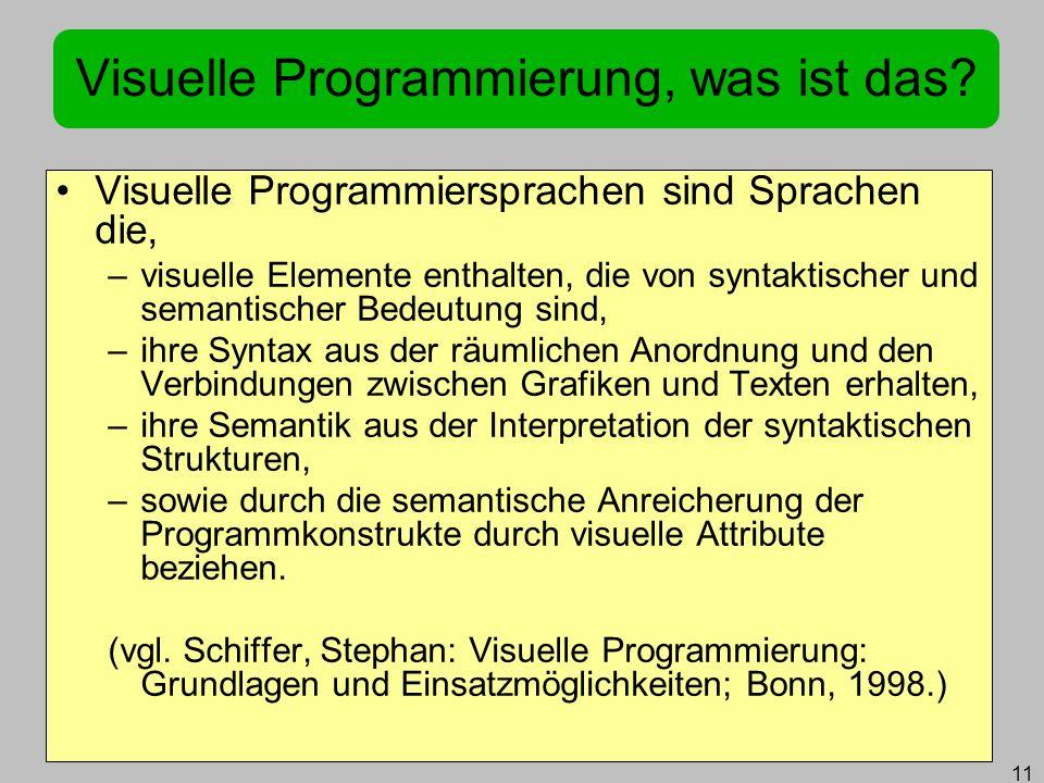 Visuelle Programmierung, was ist das
