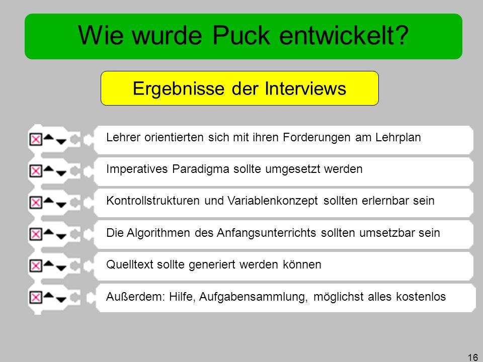 Wie wurde Puck entwickelt