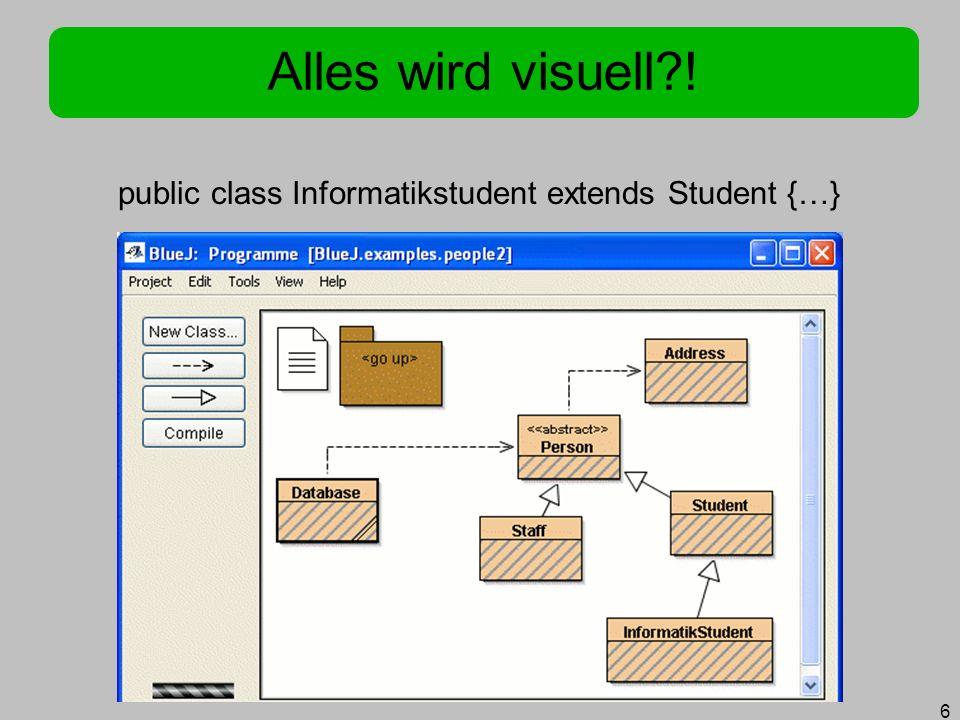 public class Informatikstudent extends Student {…}