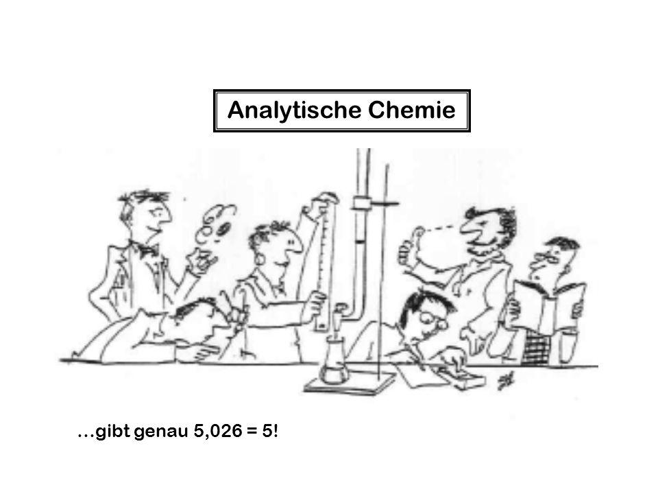 Analytische Chemie …gibt genau 5,026 = 5!