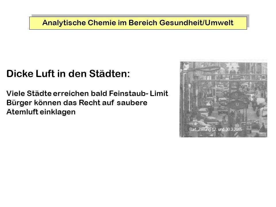 Analytische Chemie im Bereich Gesundheit/Umwelt