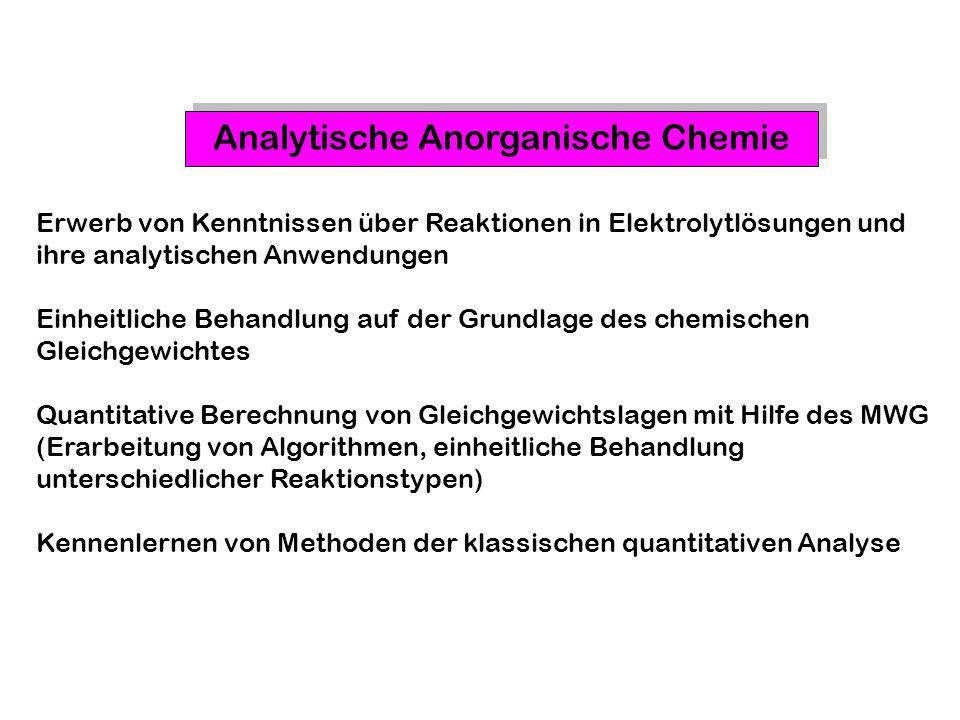 Analytische Anorganische Chemie