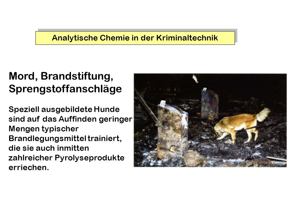 Analytische Chemie in der Kriminaltechnik