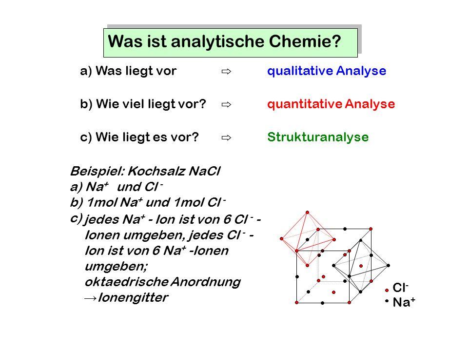 Was ist analytische Chemie