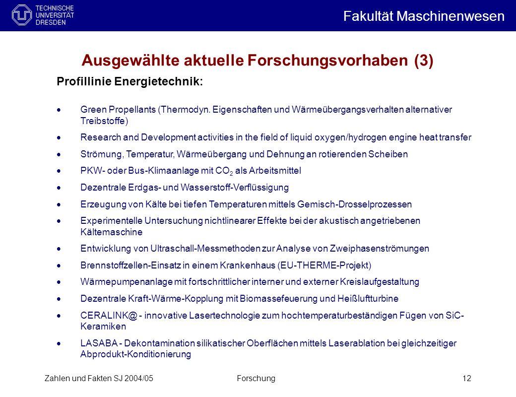 Ausgewählte aktuelle Forschungsvorhaben (3)