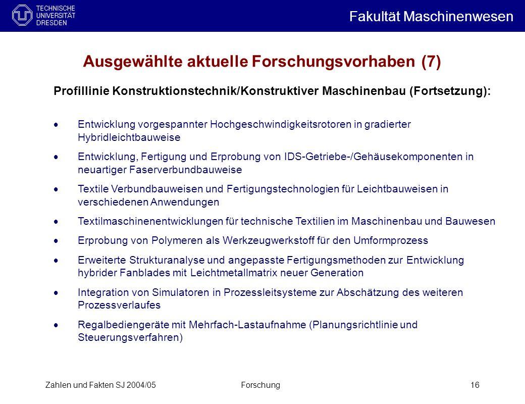 Ausgewählte aktuelle Forschungsvorhaben (7)