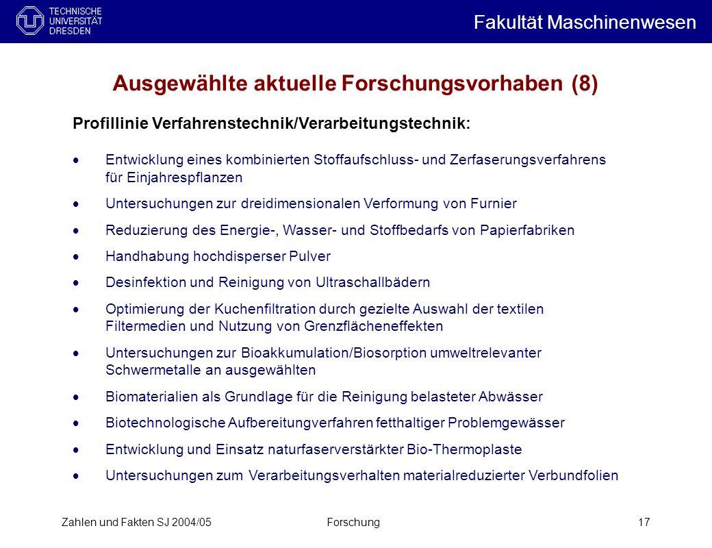 Ausgewählte aktuelle Forschungsvorhaben (8)